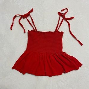 Red Tie Strap Top